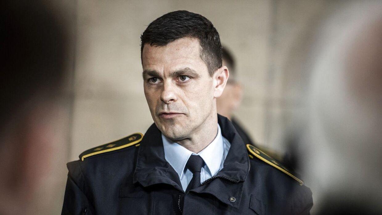 En 26-årig mand blev fredag sigtet for drab på tre ældre mennesker på Østerbro i København. Her fortæller efterforskningsleder Brian Belling om sagen på pressemødet på Politigården.