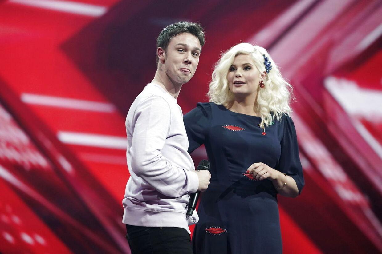 Hugo Helmig ved X Factor liveshow 3, fredag den 14. Marts 2019. (Foto: Martin Sylvest/Ritzau Scanpix 2019)