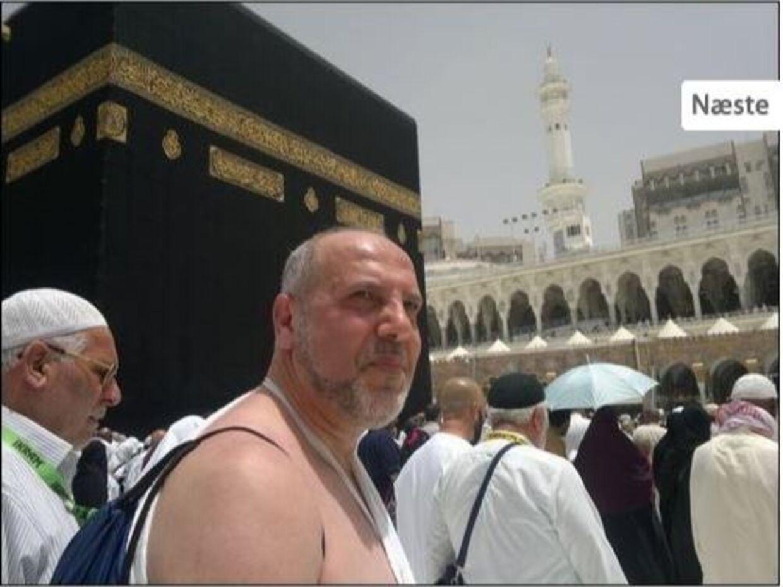 Skoleleder Waleed Houji i Mekka på en rejse til Saudi-Arabien i 2014. Foto: Alqudsskole.dk