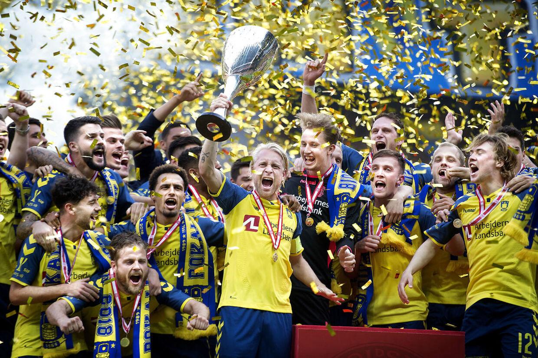 Sådan så det ud, da Brøndby sidste år vandt pokalturneringen i Parken.