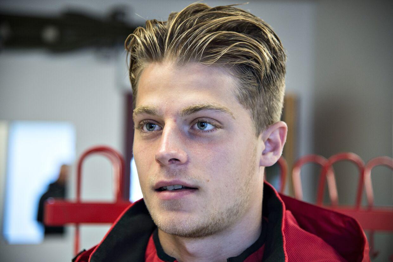 U21-landsholdsanfører og Celta Vigo-spiller Mathias Jensen endte onsdag i et spansk stormvejr. Henning Bagger/Ritzau Scanpix
