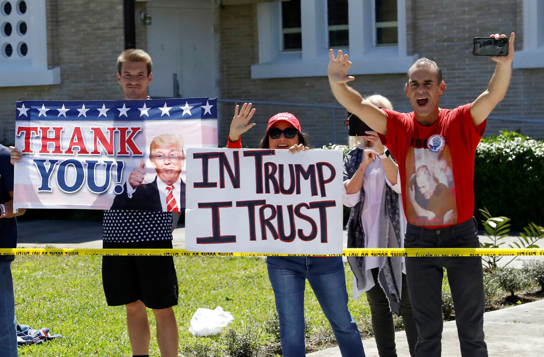 Trofaste Trump-fans i Florida, 2019.