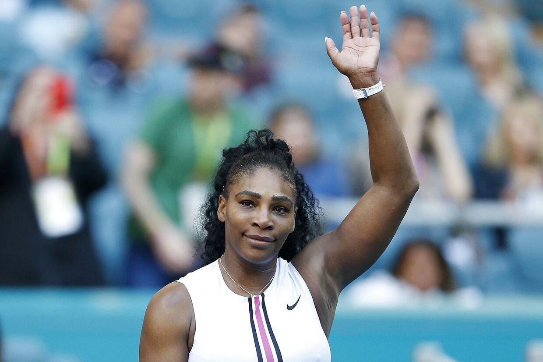 Serena Williams efter sejren mod Rebecca Peterson.