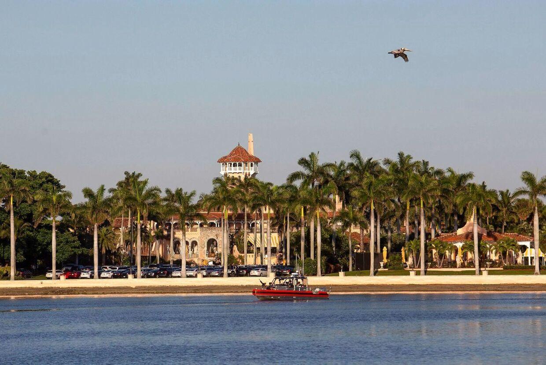 Her (Mar-a-Lago, Florida) tilbragte Donald Trump weekenden sammen med førstedamen Melania og deres 13-årige søn Barron.