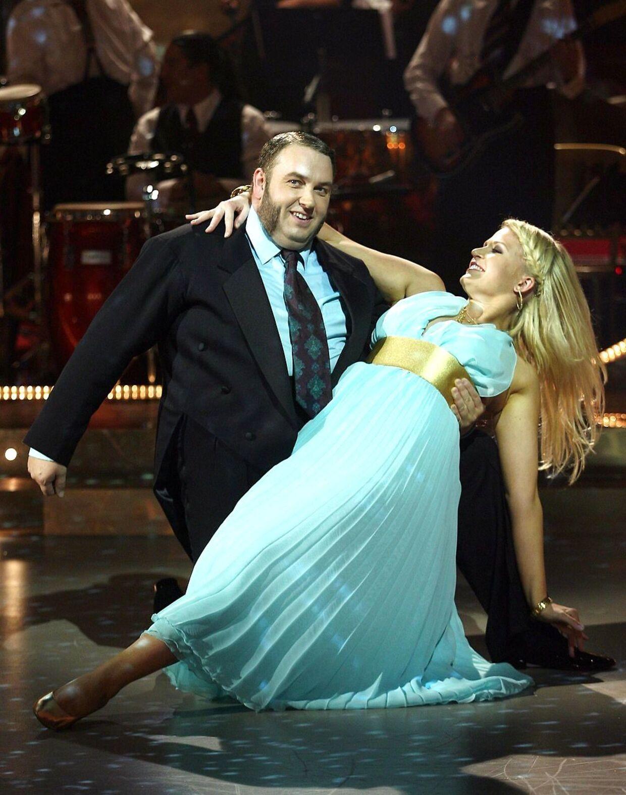 Fra TV2-programmet'Vild med dans'. Master Fatman (Morten Lindberg) og Mie Moltke dansede sammen i tredje sæson af programmet.