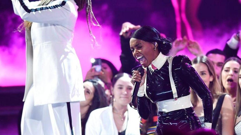 Janelle Monae optrådte til Grammy Awards i februar.