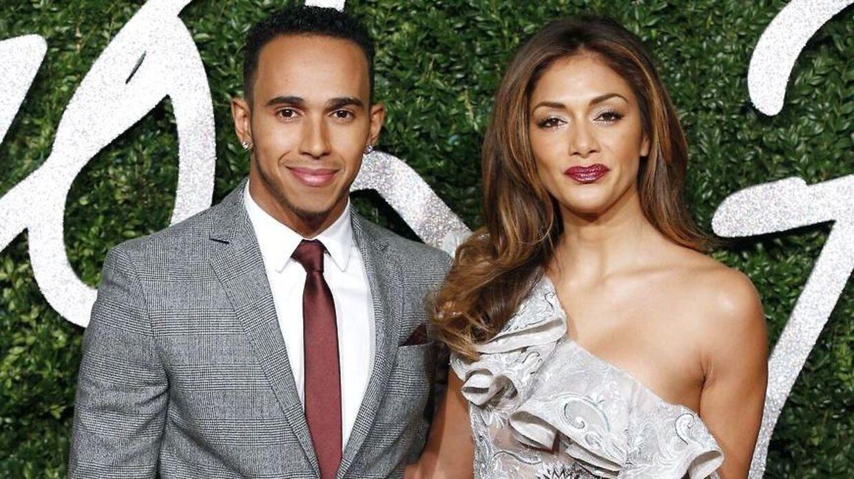 Lewis Hamilton og Nicole Scherzinger til British Fashion Awards 2014 i London. Foto: Justin Tallis