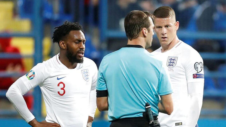 Danny Rose og Ross Barkley så til, mens der lød racistiske udtalelse fra stadion i Montenegro.