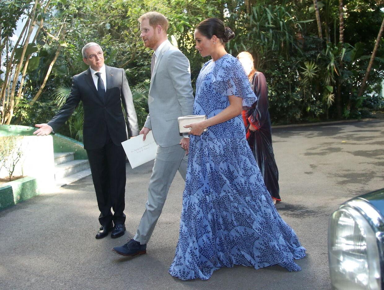 Den højgravide hertuginde af Sussex var med sin mand på officielt besøg i Marokko i februar 2019.