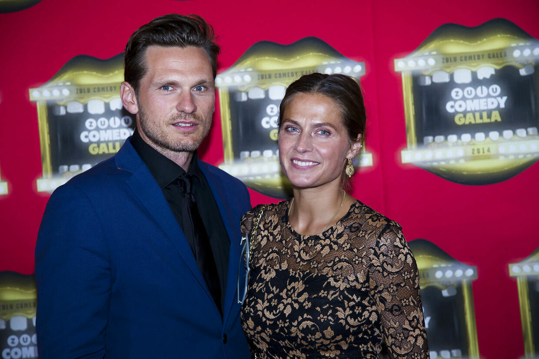 Andrea Elisabeth Rudolph og Claus Møller Jakobsen ved Zulu Comedy Galla i 2014.