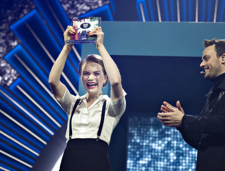 20-årige Leonora skal repræsentere Danmark til Eurovision i maj. (Foto: Henning Bagger/Ritzau Scanpix)