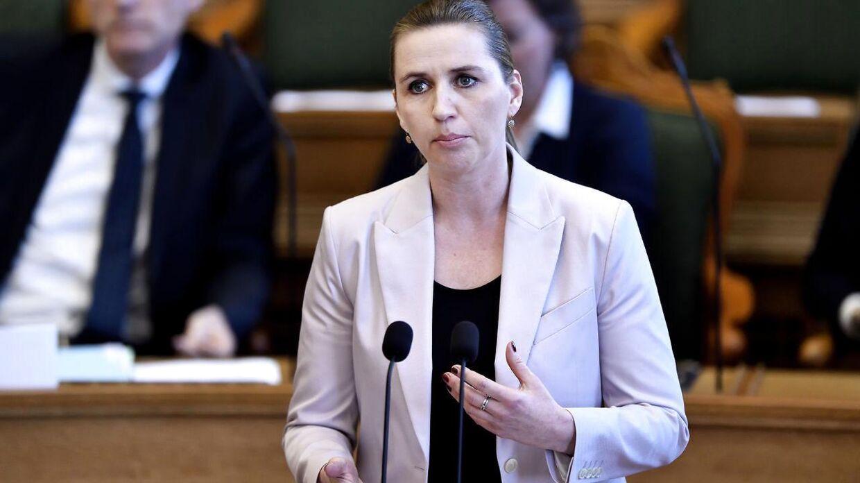Mette Frederiksen (S) til spørgetime med statsminister Lars Løkke Rasmussen (V) i Folketingssalen, tirsdag den 9. april 2019.