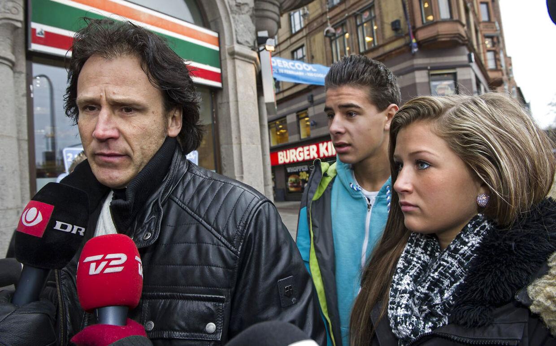 Egil Vildmyren overværede retssagen mod Marian Clita med sine to yngste børn.