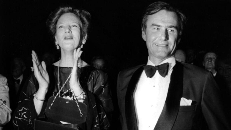 Dronning Margrethe og prins Henrik til fest sammen i 1982. (Arkivfoto: Scanpix)