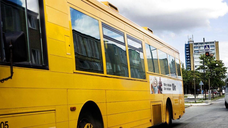 Arkivfoto. Grupper af unge skaber uro og laver ballade i bybusserne i Aarhus.