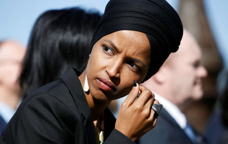 Det muslimske demokratiske kongresmedlem Ilhan Omar.