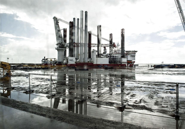 Arkivfoto fra Esbjerg Havn.