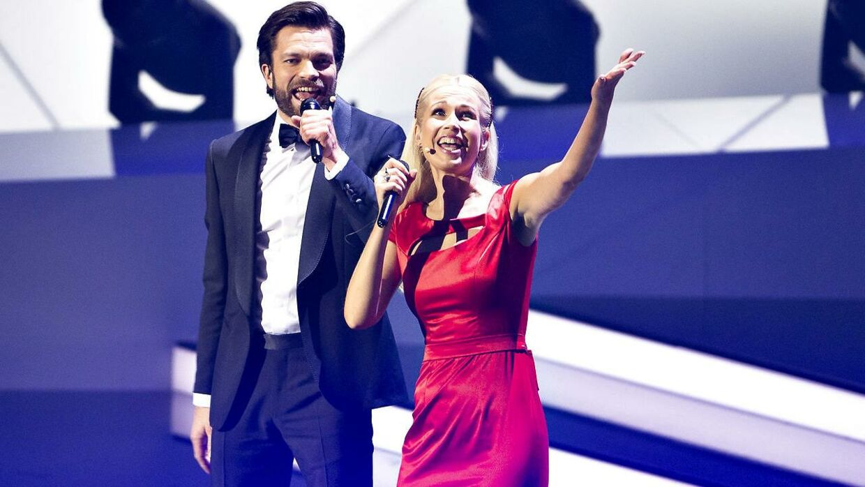 Tina Müller var i år vært ved Sport 2018 i Boxen i Herning sammen med Thomas Skov.