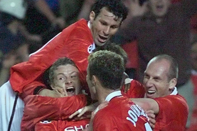 Ole Gunnar Solskjær sikrede 2-1-sejren på Camp Nou i Champions League-finalen over Bayern München i overtiden i 1999. Tirsdag er nordmanden tilbage som manager og på jagt efter endnu et comeback i turneringen i Barcelona. Eric Cabanis/Ritzau Scanpix