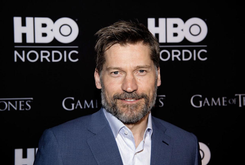 Nicolai Coster-Waldau på rød løber til premiere på første afsnit af sidste sæson af Game of Thrones.