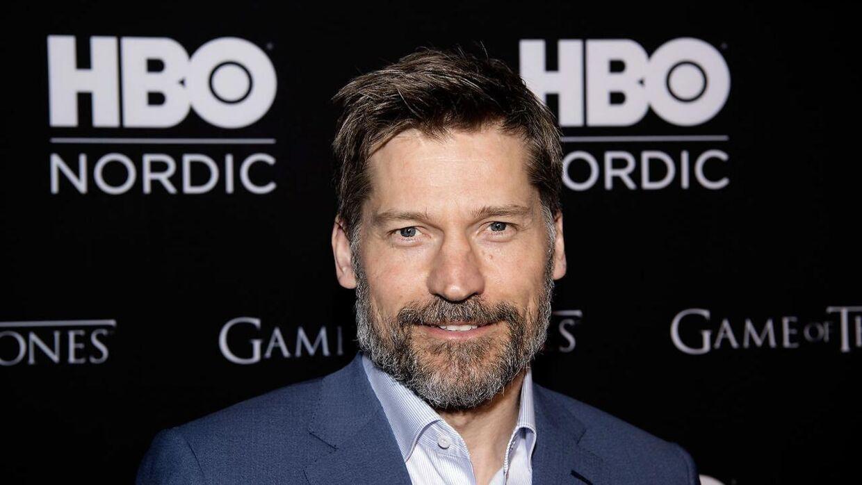 Nikolaj Coster-Waldau på rød løber i Imperial, da første afsnit af sidste sæson af Game of Thrones.