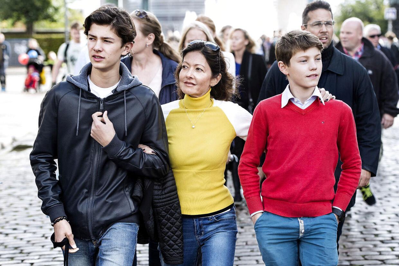 (Arikvfoto) Grevinde Alexandra, Prins Nikolai og Prins Felix i 2015.