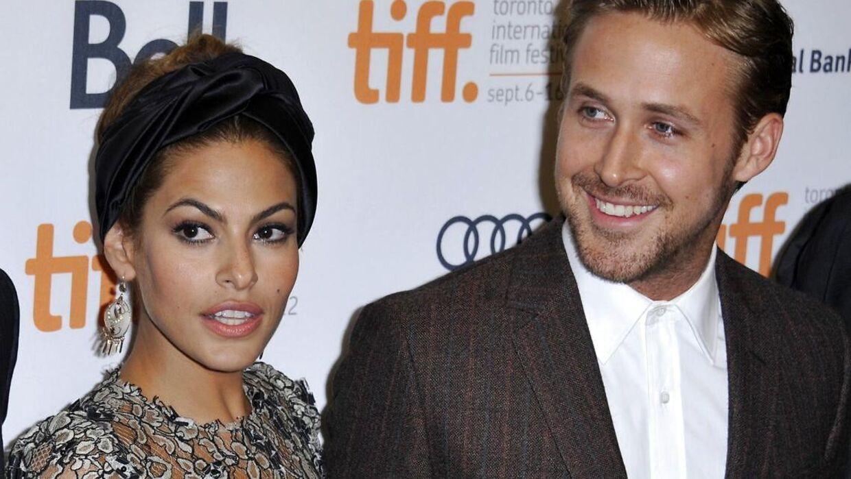 Eva Mendes og Ryan Gosling mødte hinanden under indspildningerne af filmen 'The place beyond the pines' i 2011.