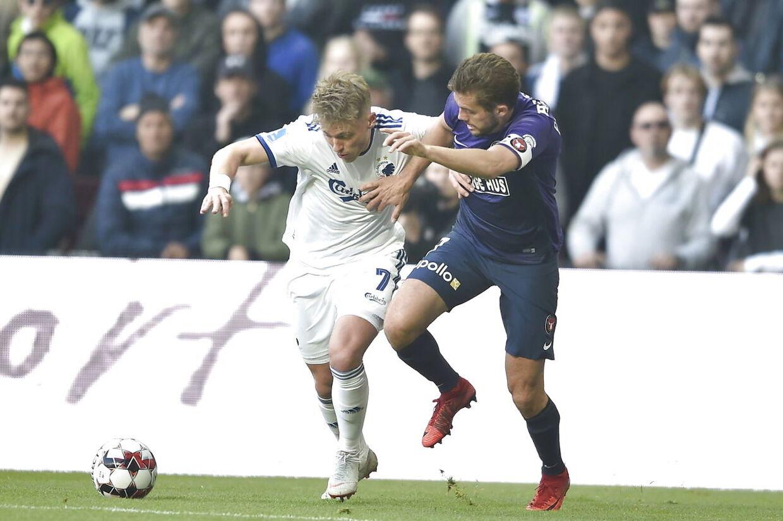 Superliga FCK - FC Midtjylland i Parken torsdag den 18. april 2019. (Foto: Liselotte Sabroe/Scanpix 2019)
