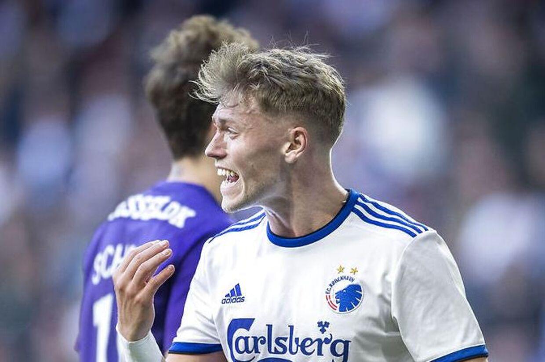 FCKs Viktor Fischer under superligakampen mellem FCK og FC Midtjylland.