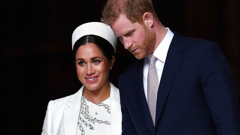 Prins Harry og Meghan fotograferet efter en ceremoni i Westminster Abbey den 11. marts.