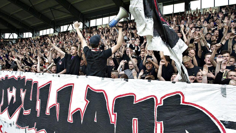 Fans af FC Midtjylland råbte homofobiske tilråb mod Viktor Fischer efter torsdagens kamp. Arkivfoto