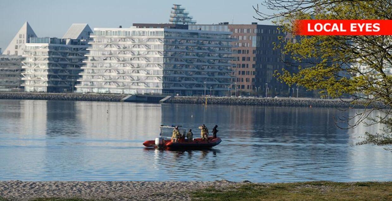 Eftersøgning ved Aarhus Bugt (Foto: LocalEyes)