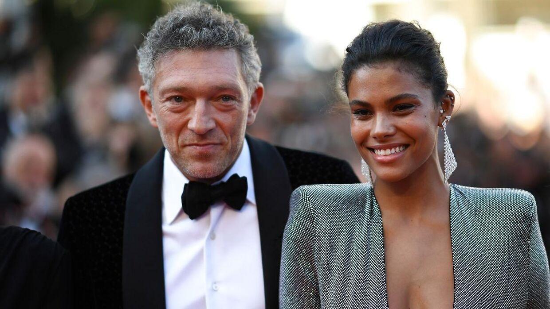 Vincent Cassel og Tina Kunakey til filmfestival i Cannes i 2018.