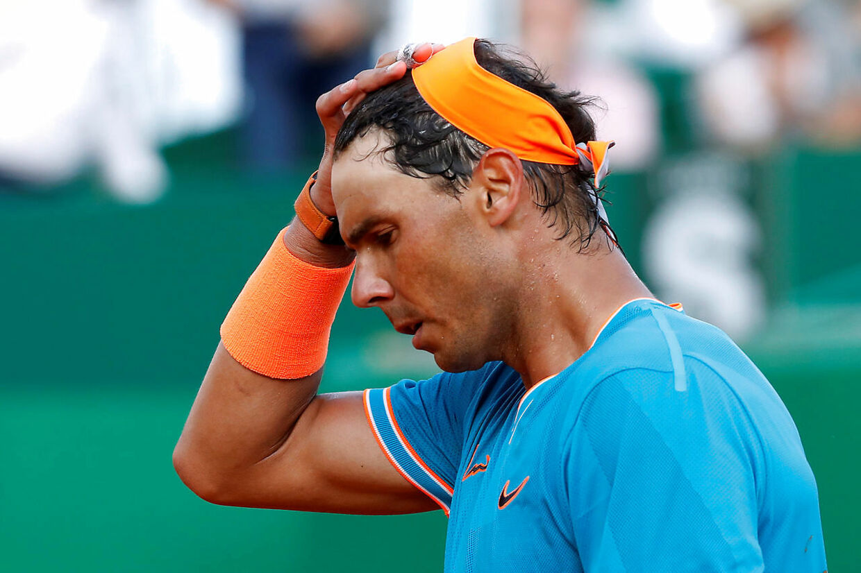 Tennis - ATP 1000 - Monte Carlo Masters - Monte-Carlo Country Club, Roquebrune-Cap-Martin, France - April 19, 2019 Spain's Rafael Nadal reacts after winning his quarter final match against Argentina's Guido Pella REUTERS/Eric Gaillard