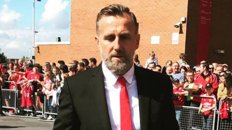Karel Poborsky i forbindelse med en opvisningskamp for Manchester United. (Foto: Instagram)