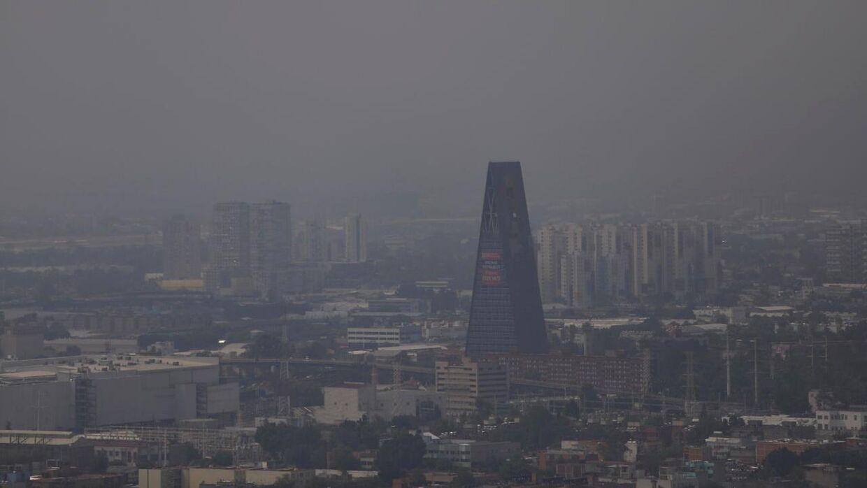 En del af Mexico City set fra oven.