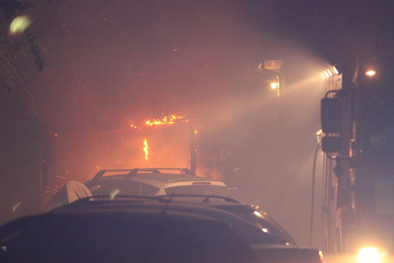 Billedet her er fra Vanløse sent mandag aften 22. april.