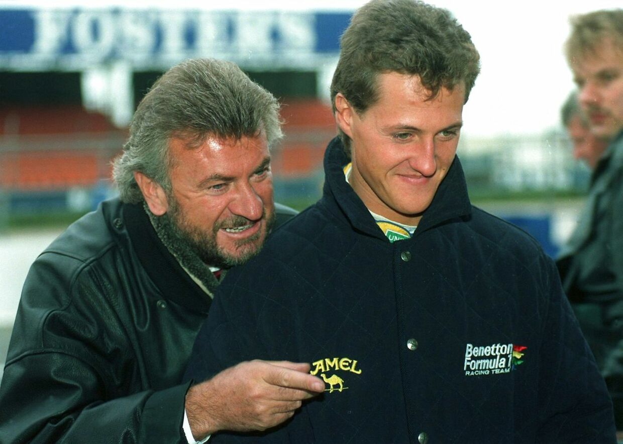 Michael Schumacher (th.) and manager Willi Weber (tv.) i 1992.