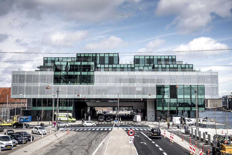 Bygningen Blox mellem Langebro og Det Kongelige Bibliotek i København.