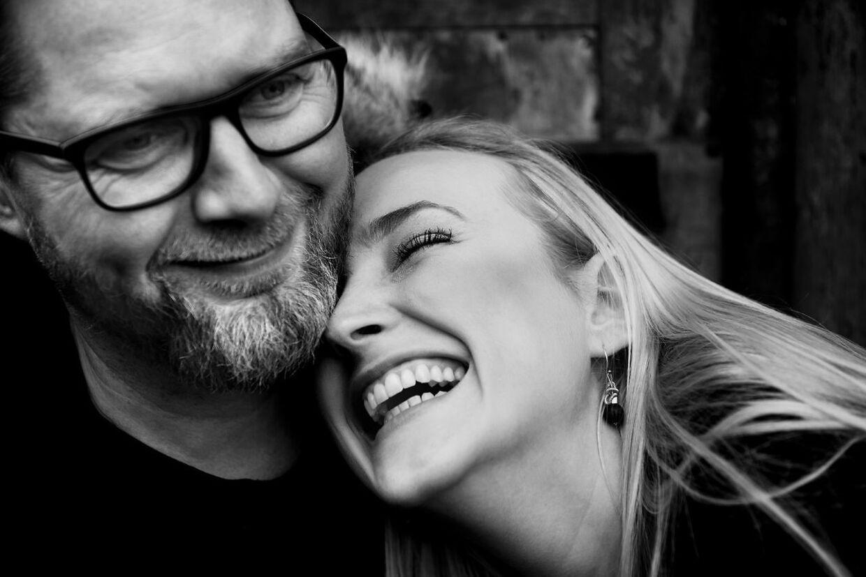 Line Hoffmeyer og Lasse Rimmer blev gift i august 2019.