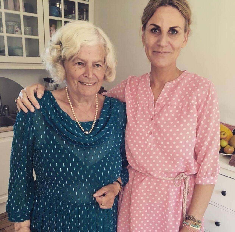 Malene Hasselblad med sin mor, Inez.