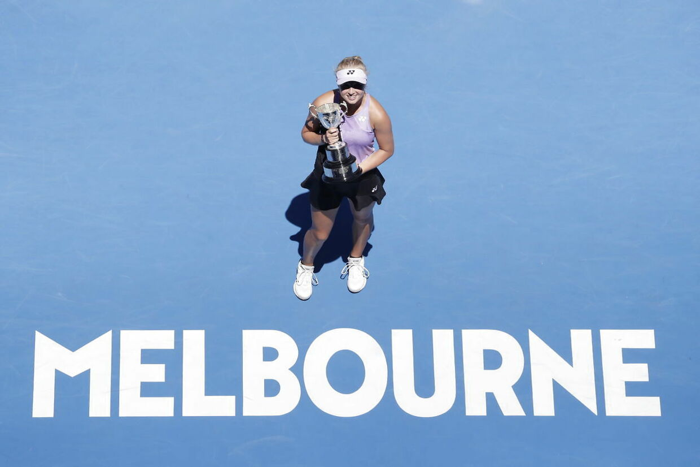 Clara Tauson vandt i januar Australian Opens pigesinglerække.