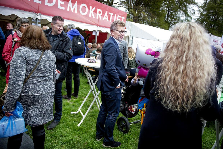 Overborgmester Frank Jensen (S) på arbejdernes internationale kampdag markeres i Fælledparken i København, onsdag den 1. maj 2019.
