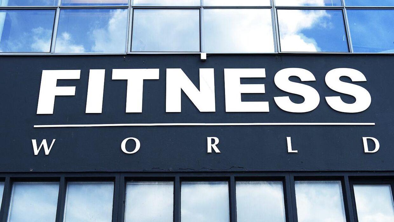 Fitness World's logo.