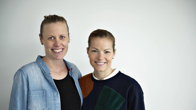 Christinna Pedersen og Kamilla Rytter Juhl, vinder af All England 2018 i damedouble, i deres nye lejlighed i Aalborg.