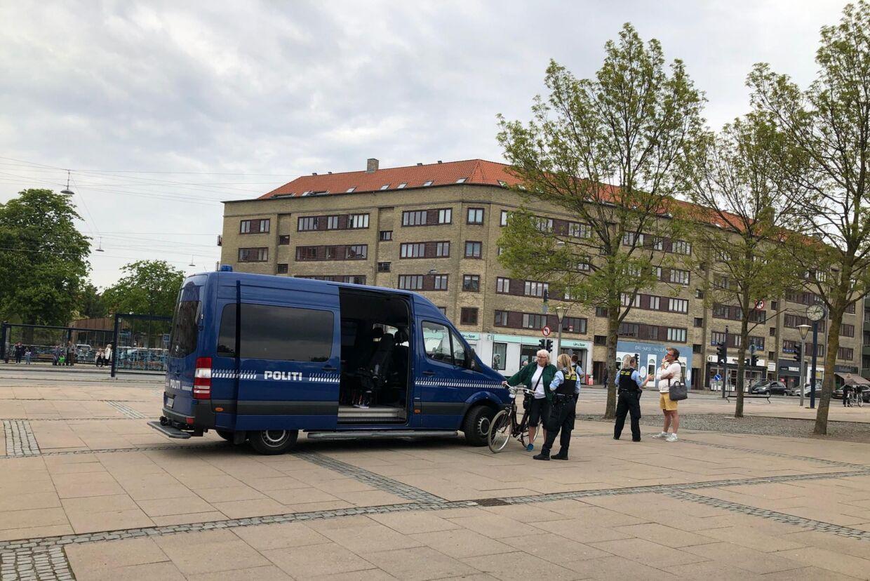 Mobil politistation på Brønshøj Torv