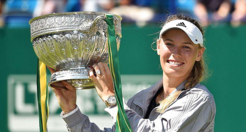Caroline Wozniacki vandt sidste år WTA-turneringen i Eastbourne.