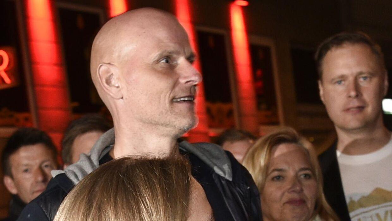 FCKs cheftræner Ståle Solbakken ankom til Arch kort før klokken 01.00.
