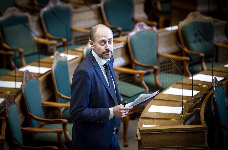 Magnus Heunicke (S) ved møde i folketingssalen, hvor ministrene svarer på spørgsmål i ministrenes spørgetid, onsdag den 23. januar 2019. (Foto: Liselotte Sabroe/Ritzau Scanpix)
