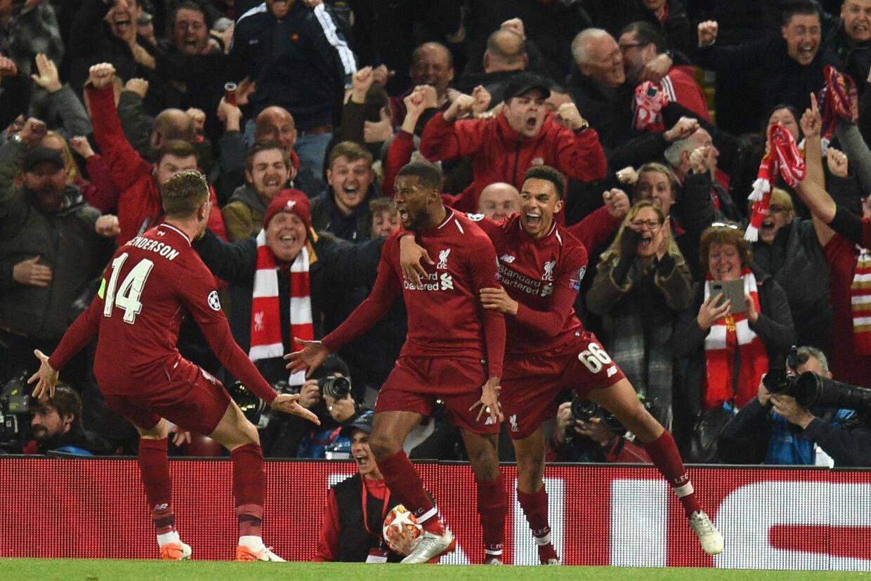 Liverpool vandt overraskende med hele 4-0 over FC Barcelona. Oli Scarff/Ritzau Scanpix